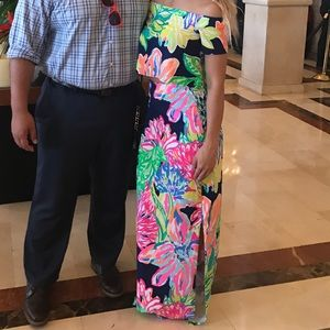Tropical Lilly Pullitzer Crop top and Skirt